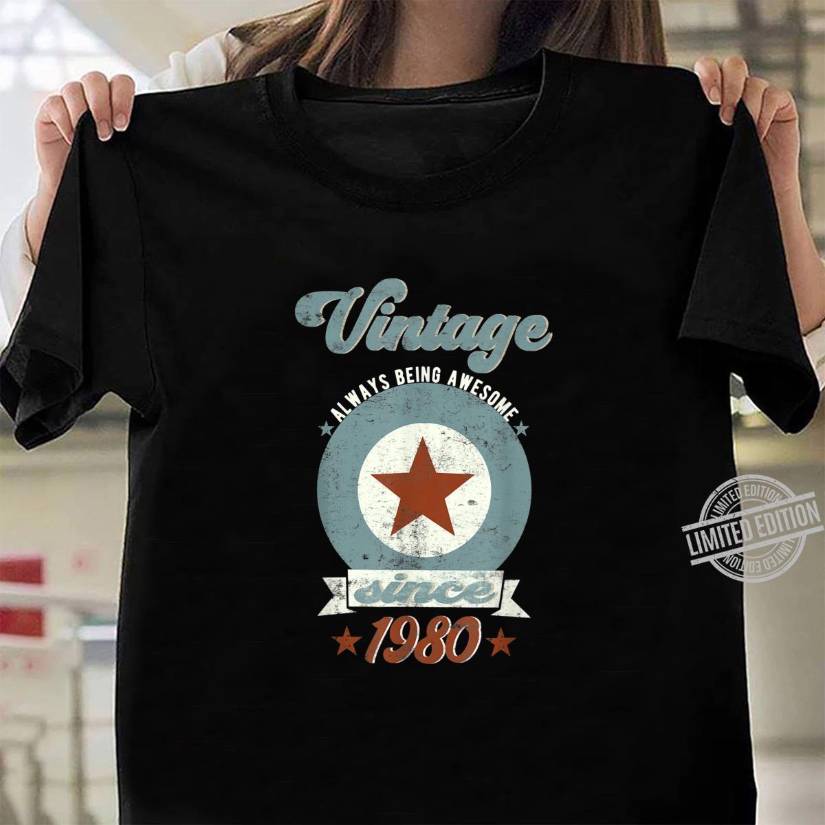 Geboren 1980 Vintage Stern Geburtstag Shirt ladies tee