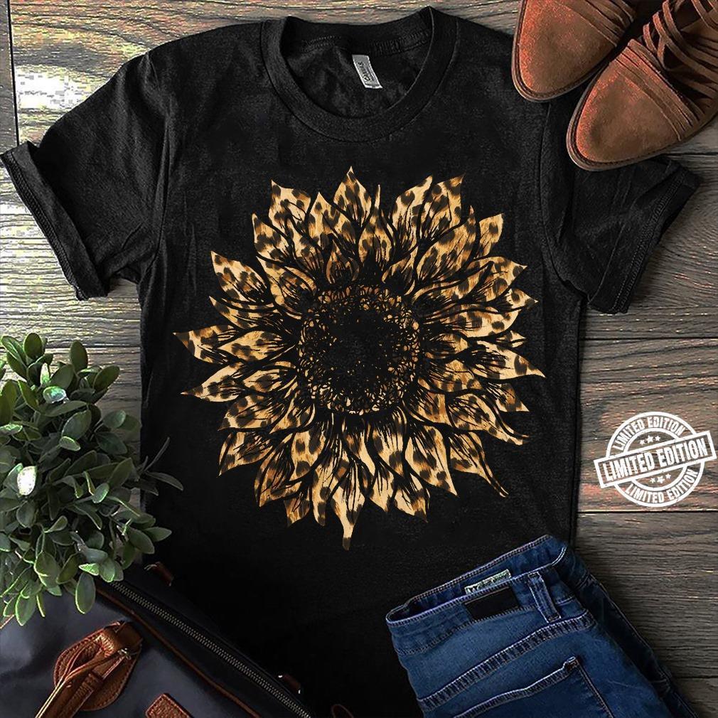 Leopard sunflower shirt