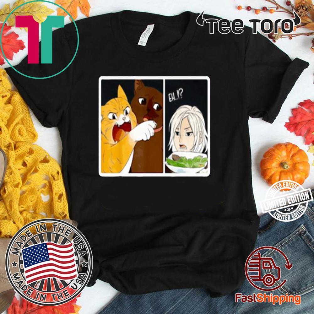 Madoka Yelling And Garfield Woman Cat Meme Shirt