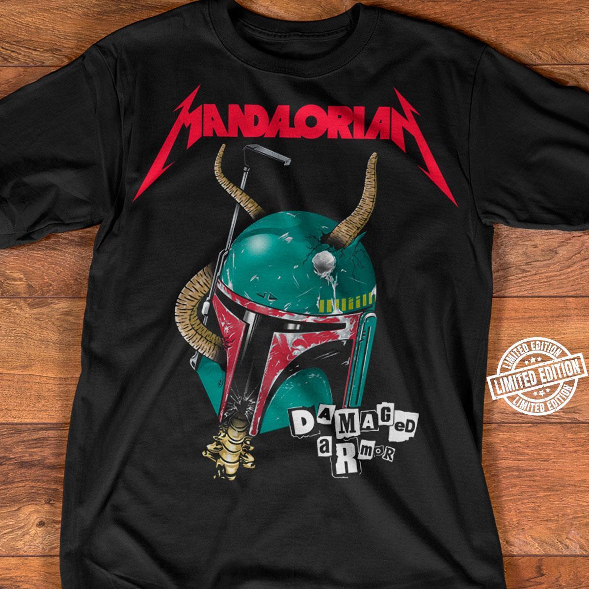 Mandalorian damaged armor shirt