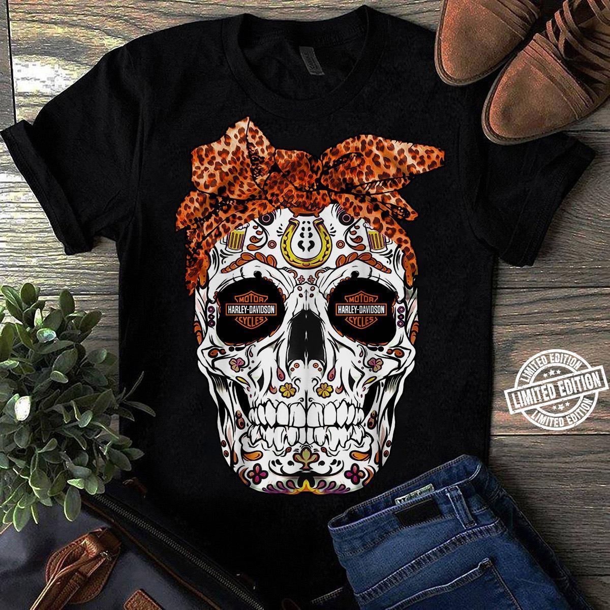 Skull motor harley-davidson cycle shirt