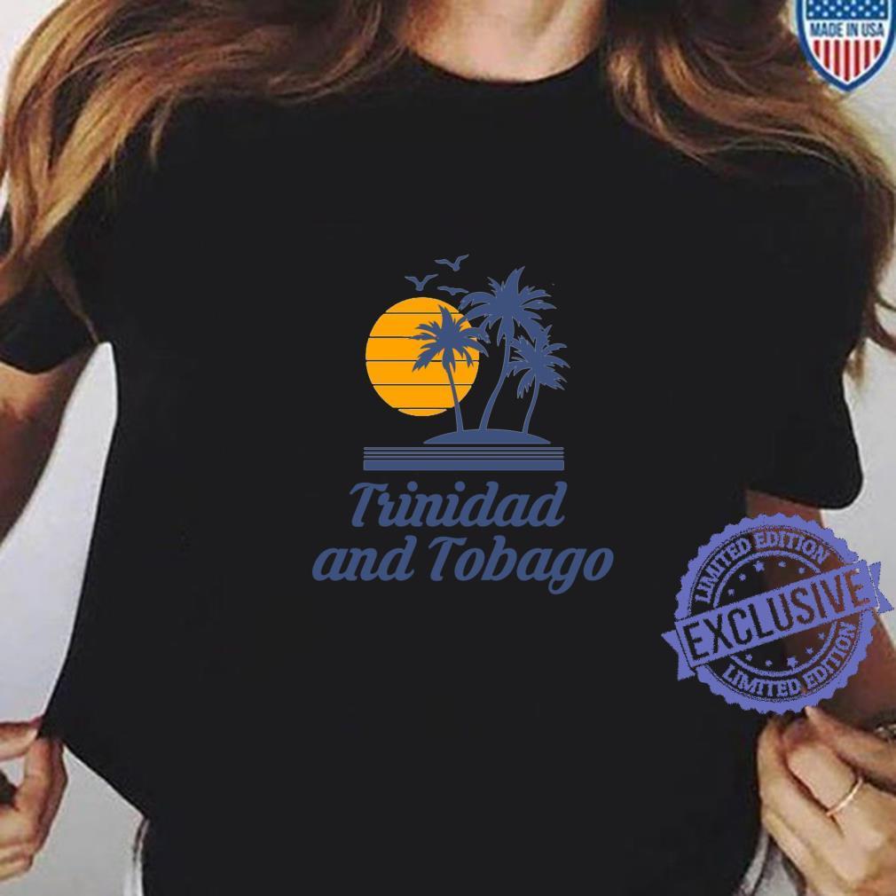 Trinidad and Tobago Caribbean Island Country Beach Shirt ladies tee